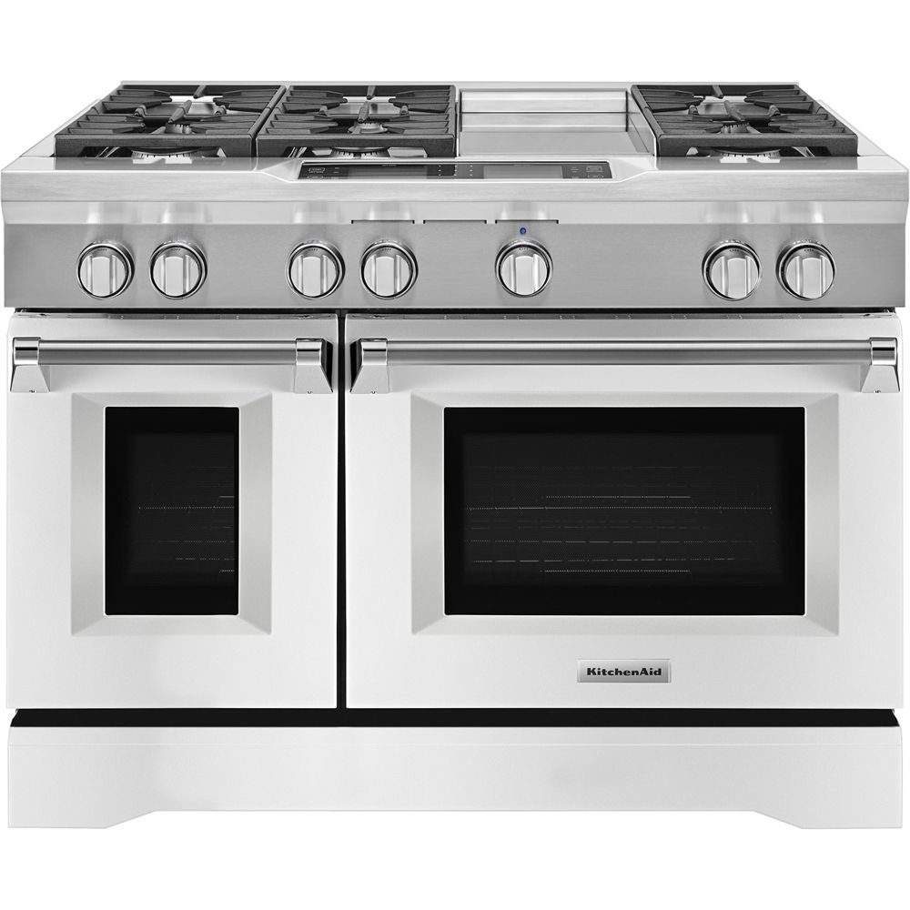 Kitchenaid 63 cu ft selfcleaning freestanding double