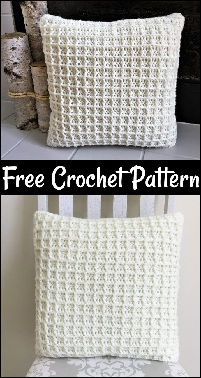 Free Crochet Pillow Patterns,Buttery Soft Waffle Pillow-The possibilities are endless to crochet