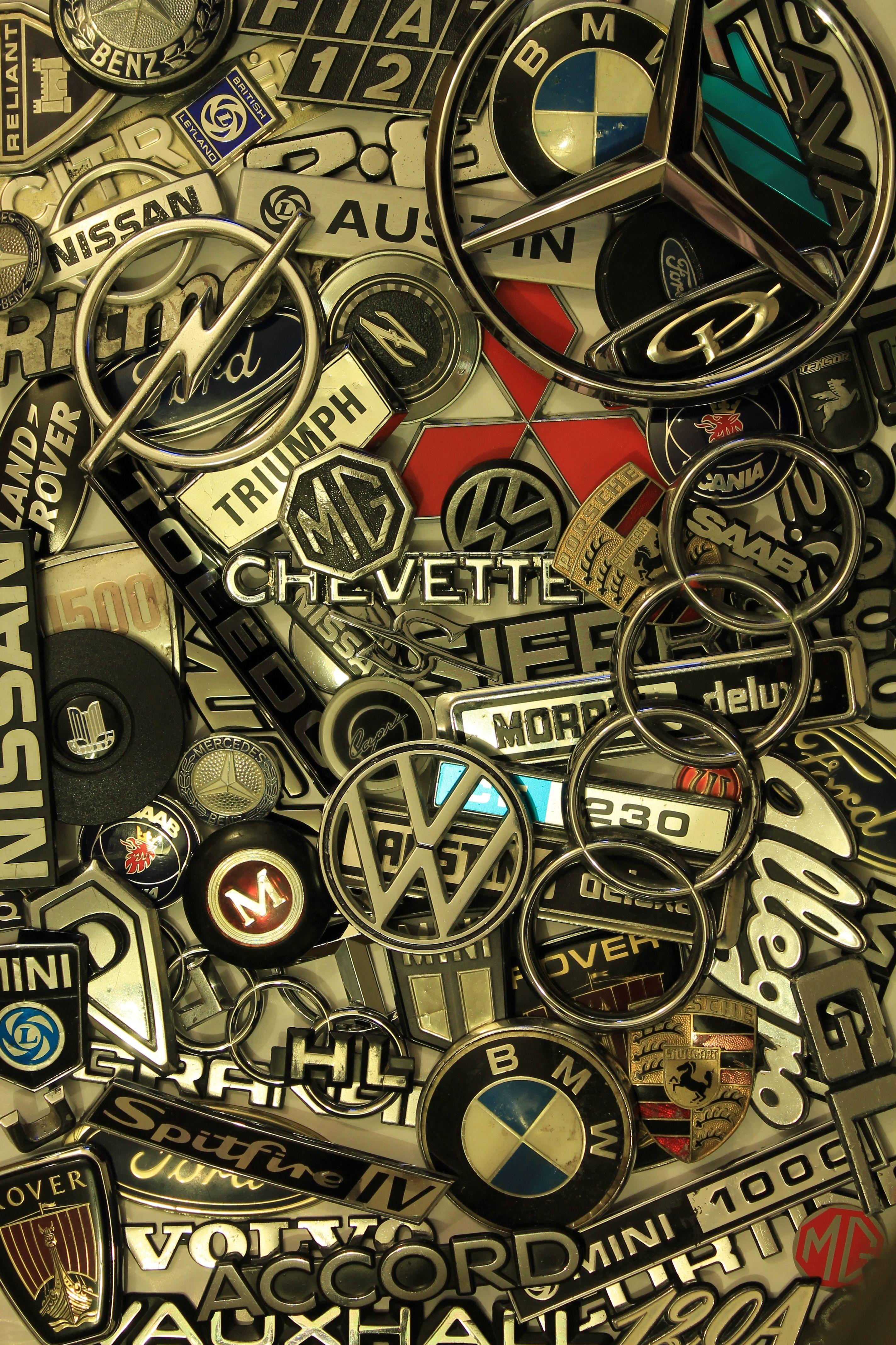 Dodgy Old Motors Car Badges Old Cars Dog Wall Art