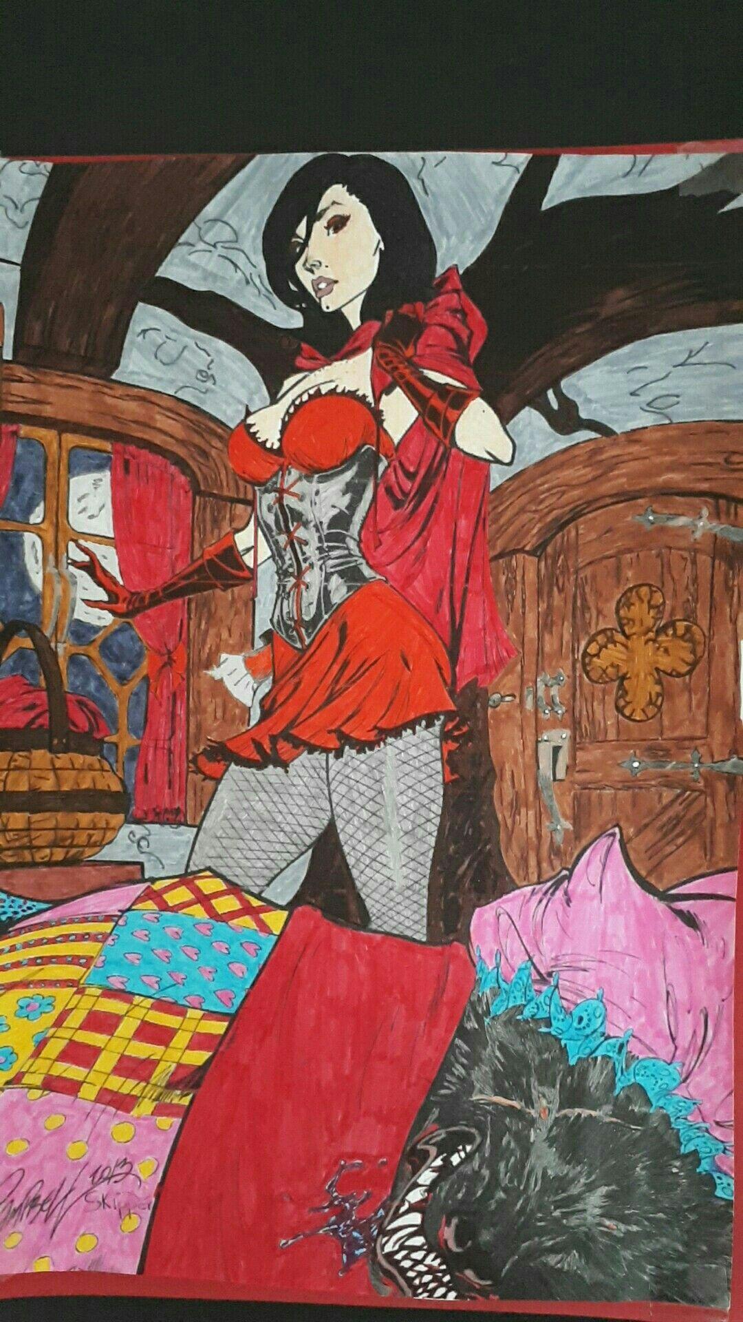 Le petit chaperon rouge et le grand méchant loup