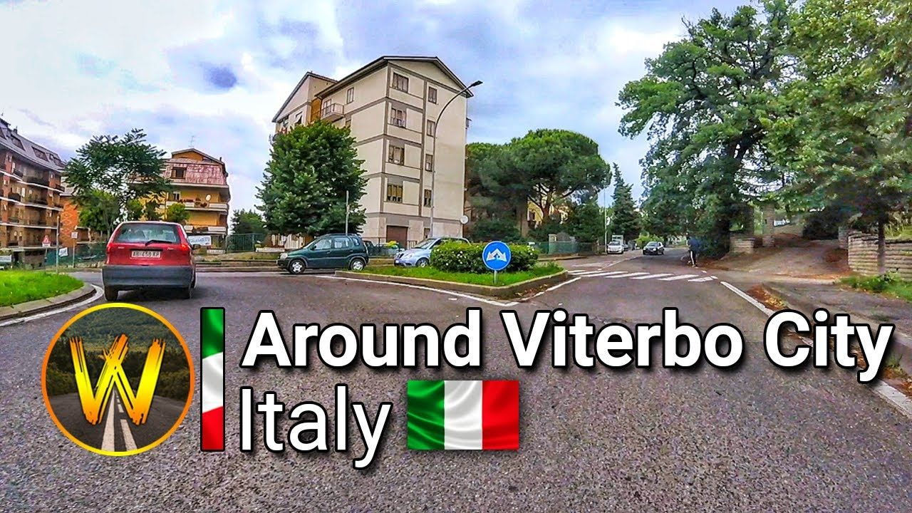 Around Viterbo City Ride, Italy | Wide Road Walk