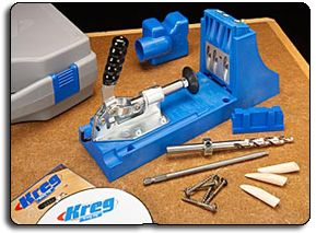 Kreg Joint Jig...makes furniture making a 1000% easier, I want it!