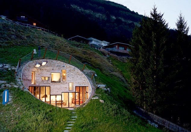 House In The Mountain Earth Sheltered Homes Underground Homes