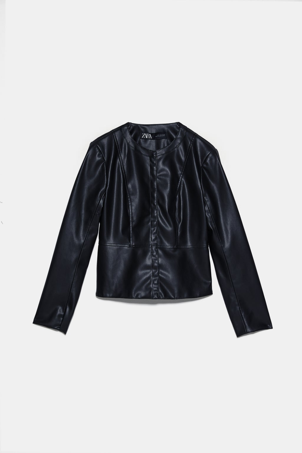 Faux Leather Jacket Zara United States In 2020 Faux Leather Jackets Jackets Leather Jacket Details