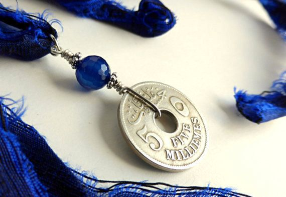 Egyptian necklace Coin necklace Coin Jewelry Gypsy by CoinStories