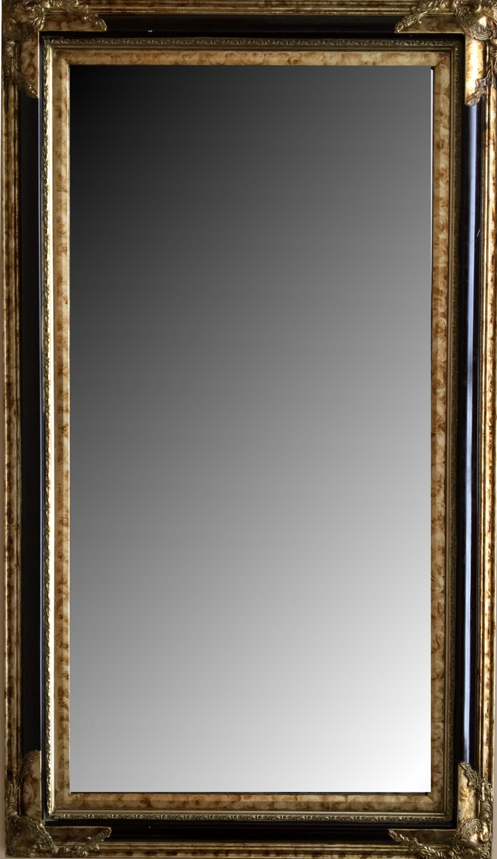 Espejo biselado estilo clásico con marco en madera. Modelo: 989RSL ...