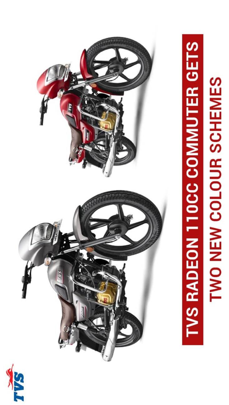 Tvs Radeon 110cc Commuter Gets Two New Colour Schemes Color