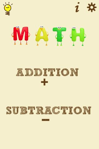 Animated visual app to teach addition and subtraction