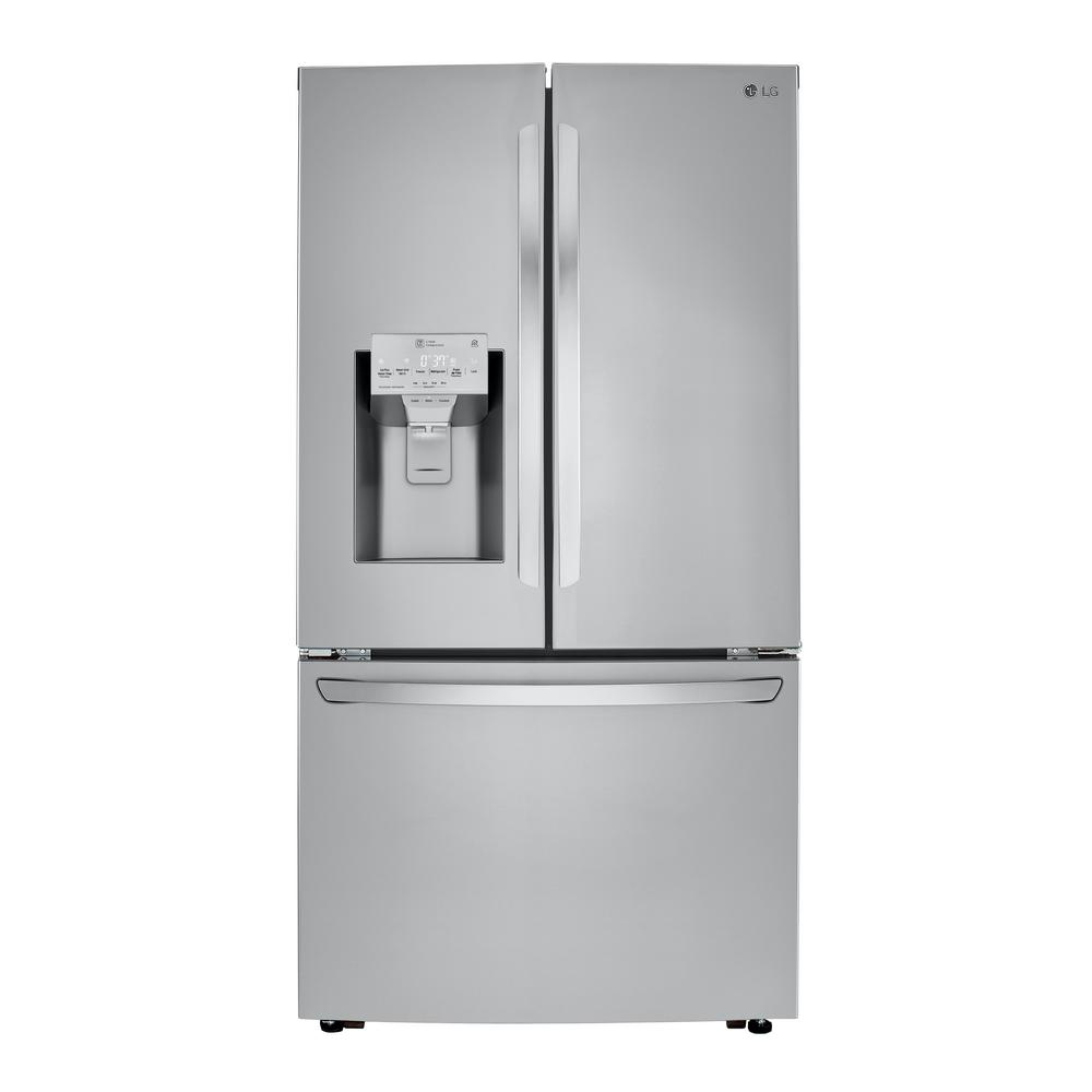 Lg Electronics 23 5 Cu Ft French Door Smart Refrigerator W Dual Icemaker Wi Fi Enabled In Printproof Stainless Steel Counter Depth Lrfxc2406s Counter Depth Refrigerator Counter Depth Stainless Steel Counters