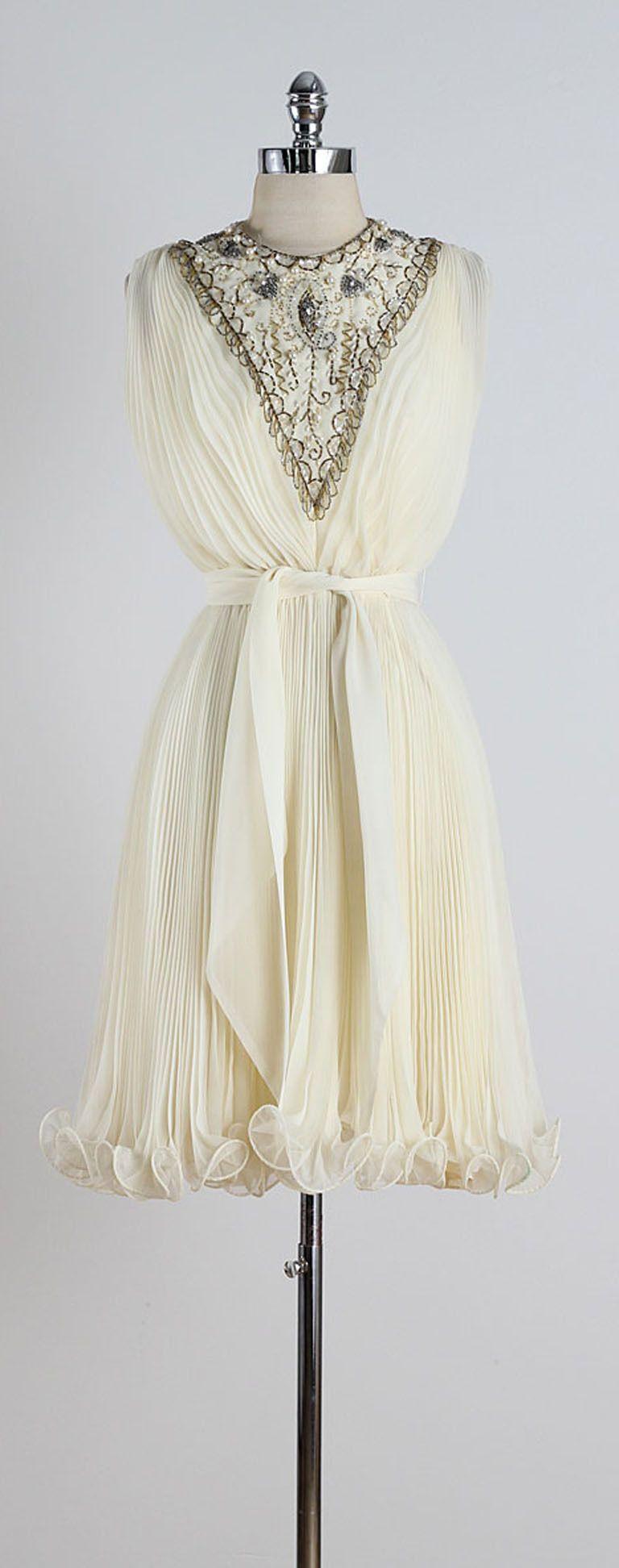 1960s Jack Bryan Jeweled Bib Cocktail Dress 1stdibs Com Vintage Fashion 1960s Fashion Vintage Fashion [ 1944 x 768 Pixel ]