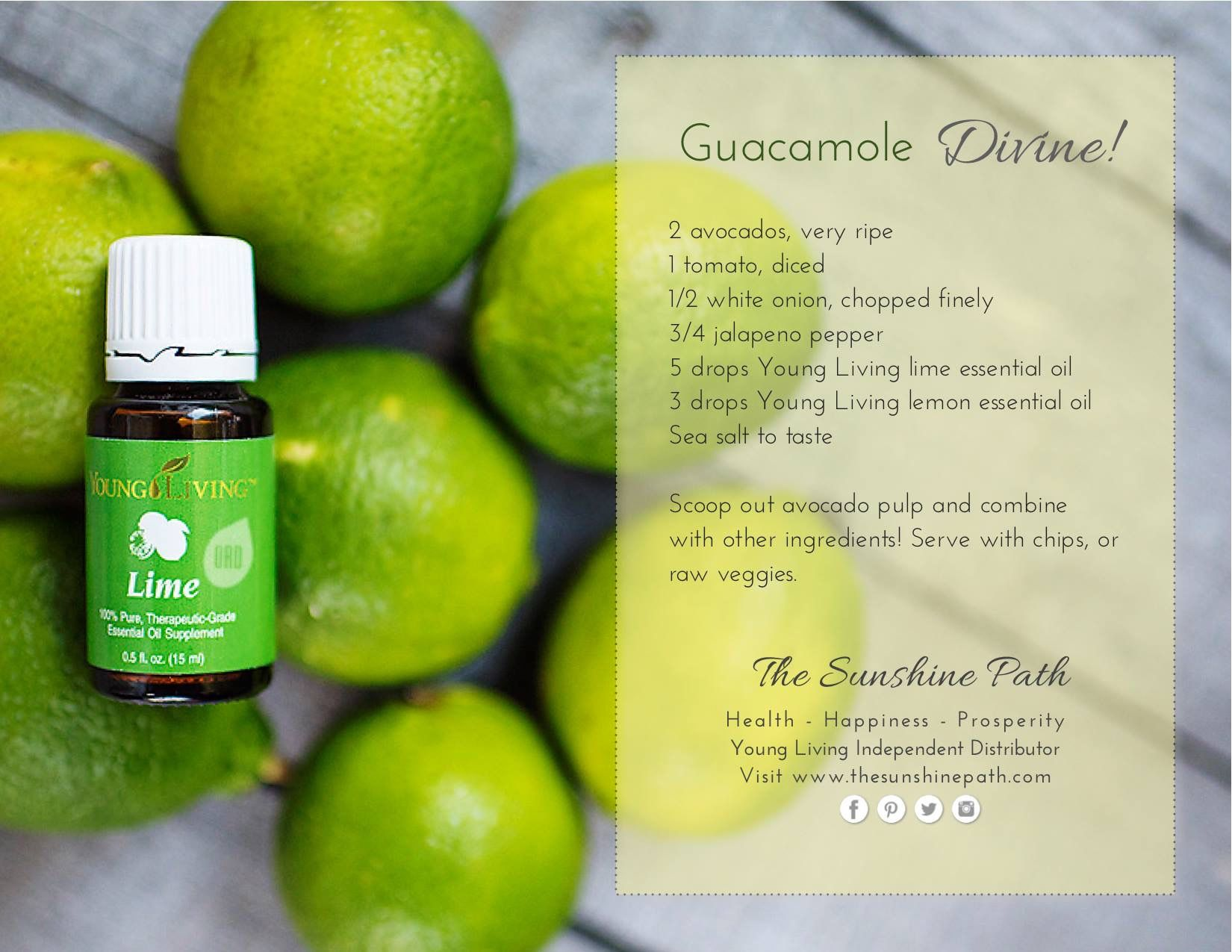 Can You Substitute Lime For Lemon In Guacamole Guacamole Recipe Food Recipes For Young Living Essential Oils Cooking With Essential Oils Yl Essential Oils Lime Essential Oil