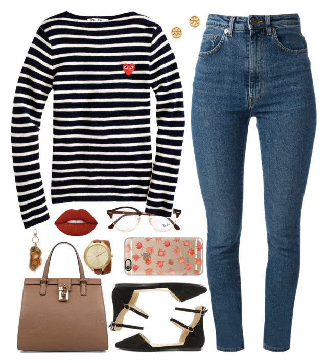 """""""Yea I Just Came For The Free Food 🦃"""" by love-rebelwolf ❤ liked on Polyvore featuring Liliana, Yves Saint Laurent, Ray-Ban, J.Crew, Dolce&Gabbana, Casetify, Lime Crime, Michael Kors and Tory Burch"""