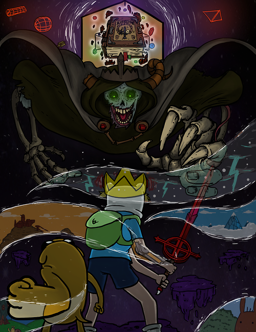 Adventure Time Love the art style showing the episodes