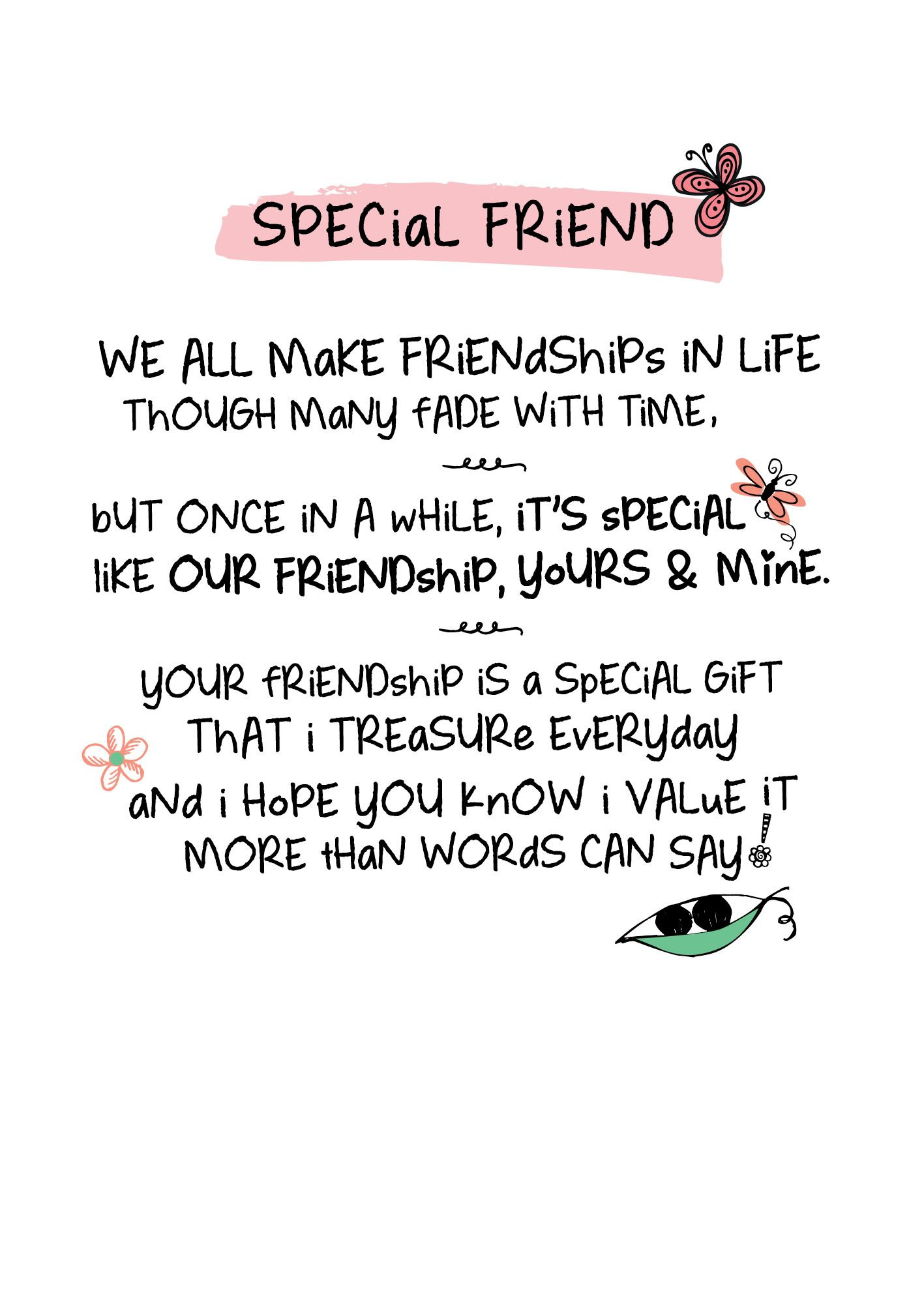 Special Friend Inspired Words Greeting Card Blank Inside Birthd Birthday Quotes Inspirational Happy Birthday Quotes For Friends Happy Birthday Wishes For Him
