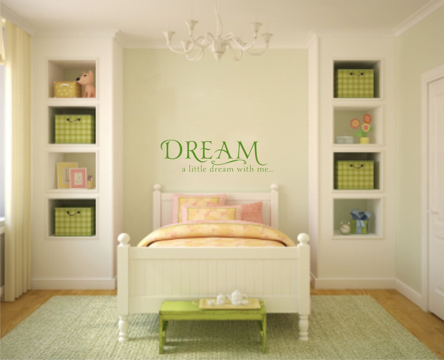 Dream A Little Dream with Me Wall Decal Sticker Lettering. $35.00 ...