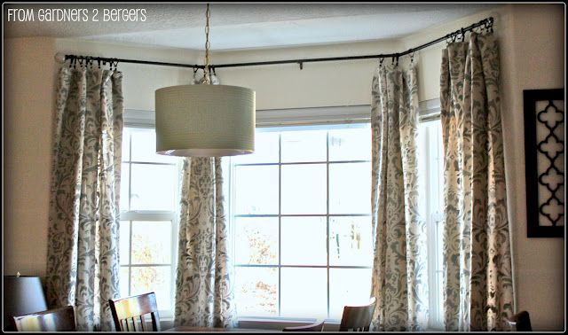 Diy Curtain Rods Sliding Glass Door Bay Window Diy Curtain