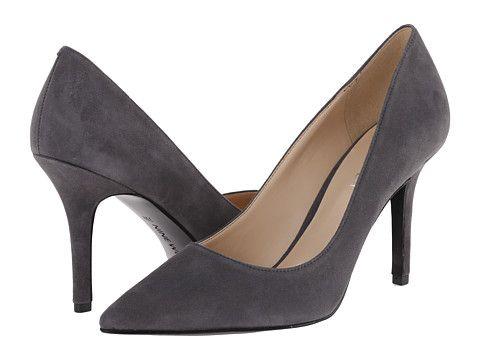 Heels, Grey high heels, Pointy toe pumps