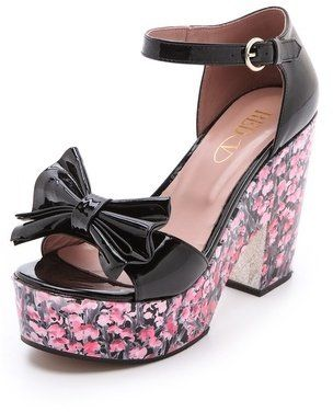 red valentino floral high heel sandals  floral high heels