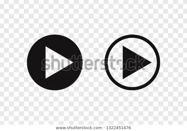 Play Button Vector Icon Music Audio Stock Vector Royalty Free 1322451476 Vector Icons Play Button Vector