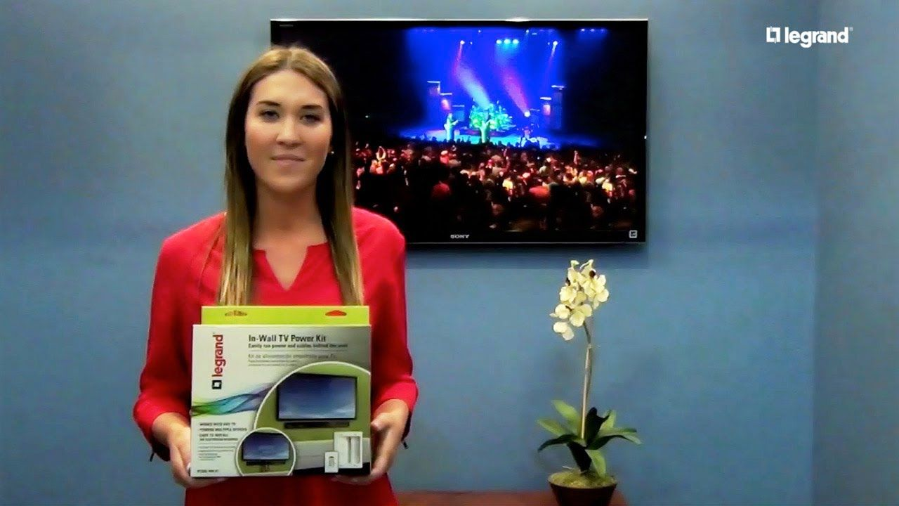 Watch how easy it is to hide TV power cords and A/V cables with the ...