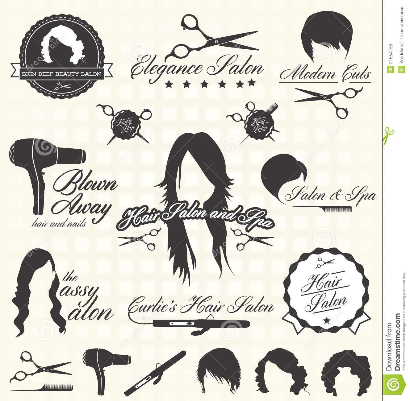 Hairdresser graphics google search graphic design for 1950 s beauty salon