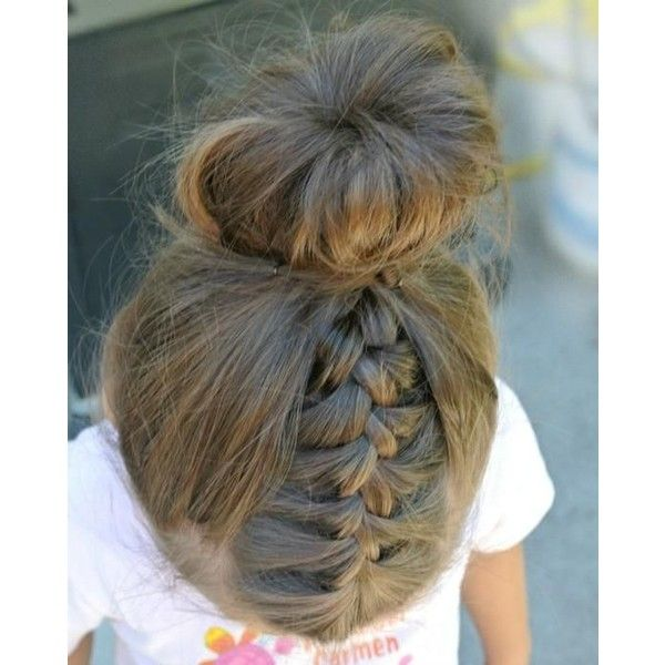 Bun Hairstyle For Little Girls Found On Polyvore Featuring