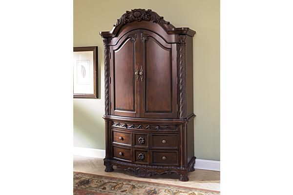 The North Shore Armoire From Ashley Furniture Homestore Afhs Com