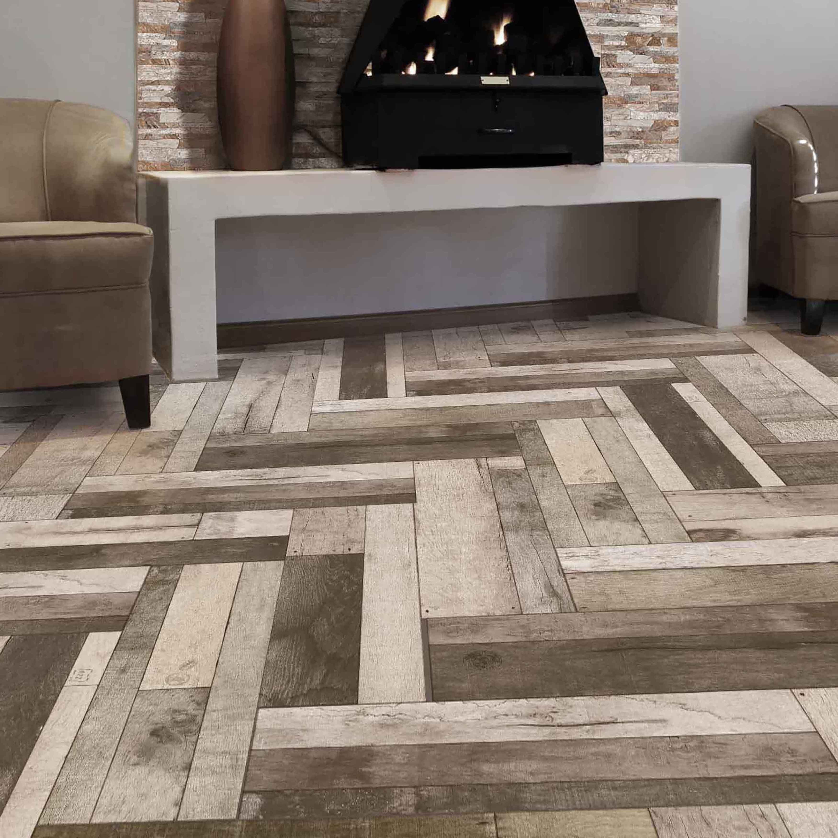 SomerTile 7.875x23.625-inch Bosque Gris Ceramic Floor and Wall ...