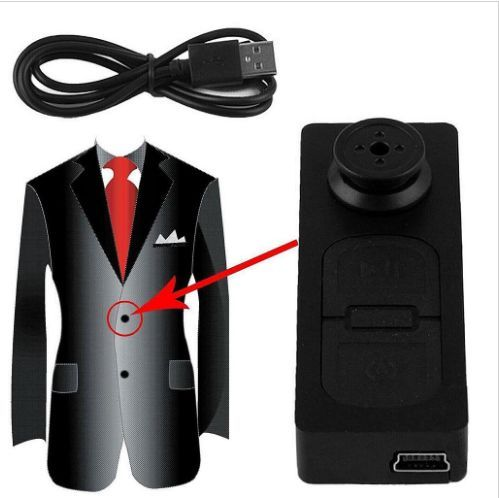 Mini S918 recording function buttons Button Pinhole Spy Camera Hidden DVR Hidden Video 16GB Black 30W