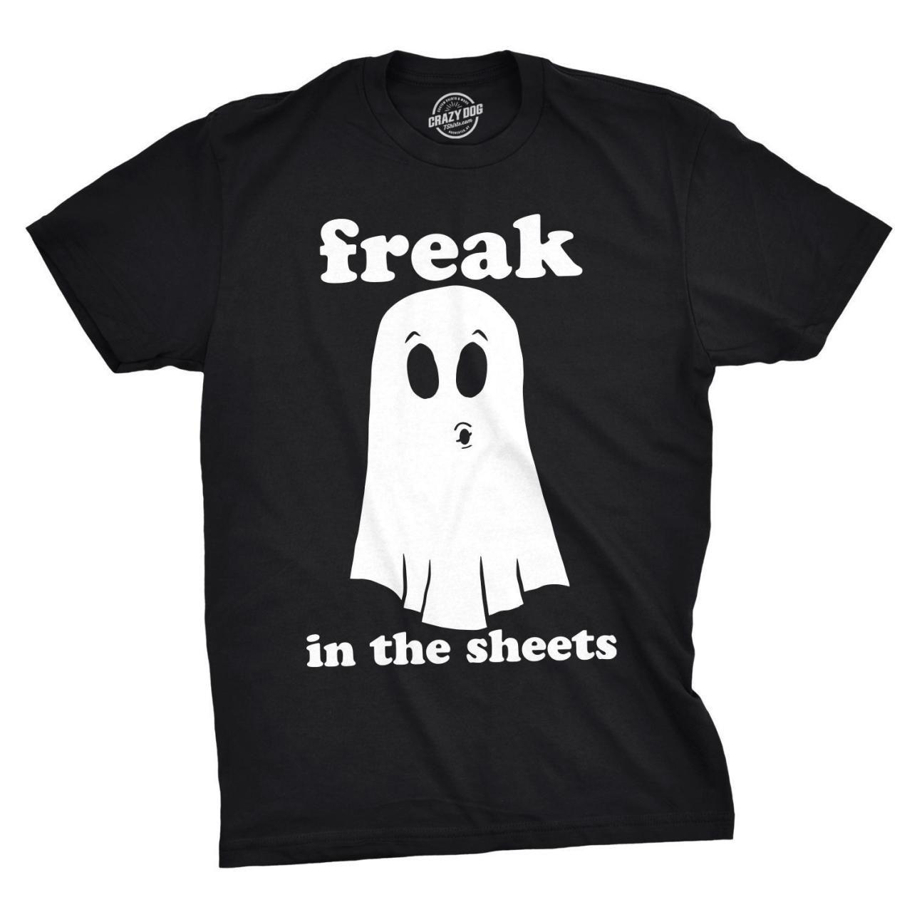 Ghost Shirt, Halloween Shirt Men, Black Spooky Shirt