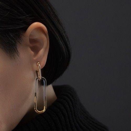 Sterling Silver 30mm Hoop Earrings and a pair of 4mm CZ Stud Earrings