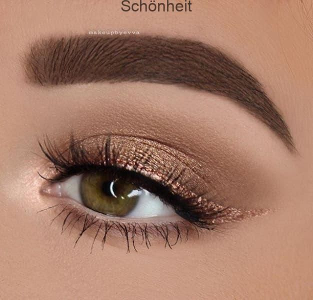 Photo of Contoured eyeshadow with winged eyeliner, #eyeliner #flugeltem #kon …
