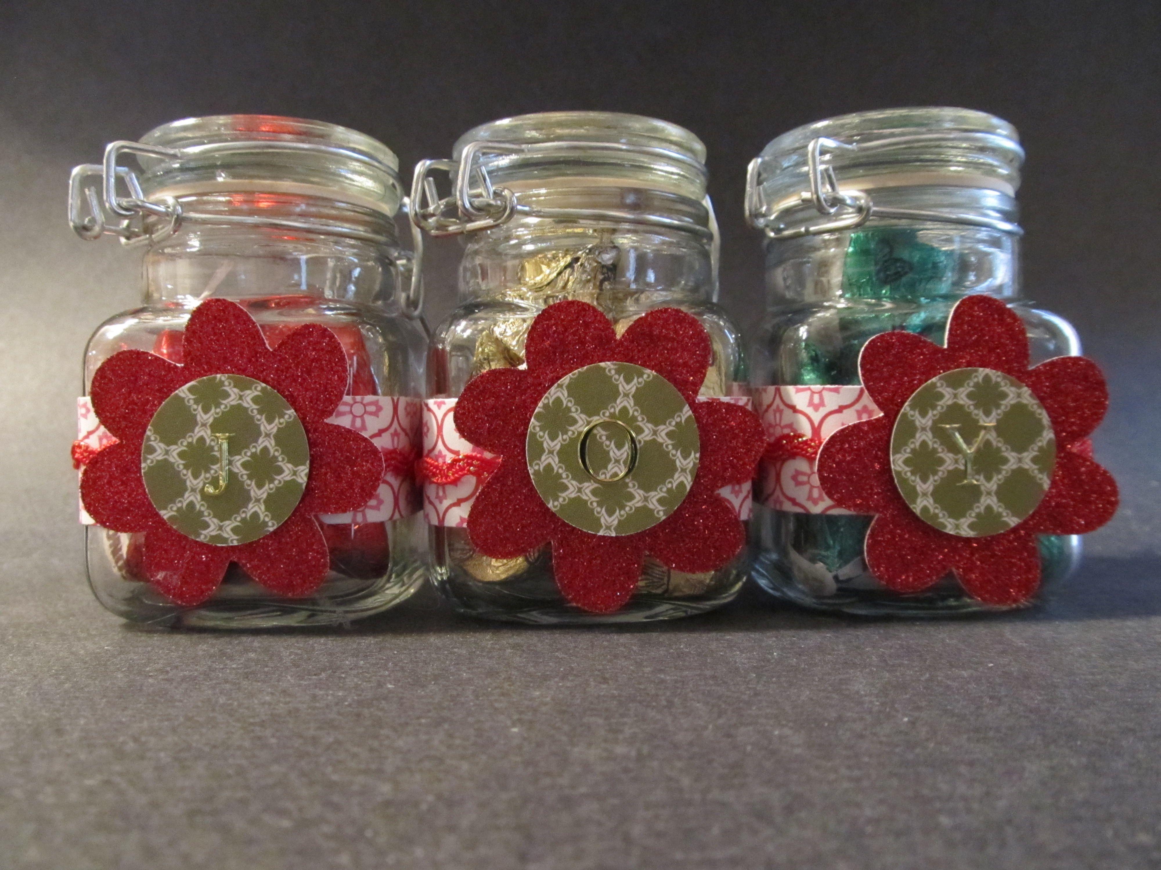 JOY Jars  Small Mason jars from Craft Warehouse Cricut cut