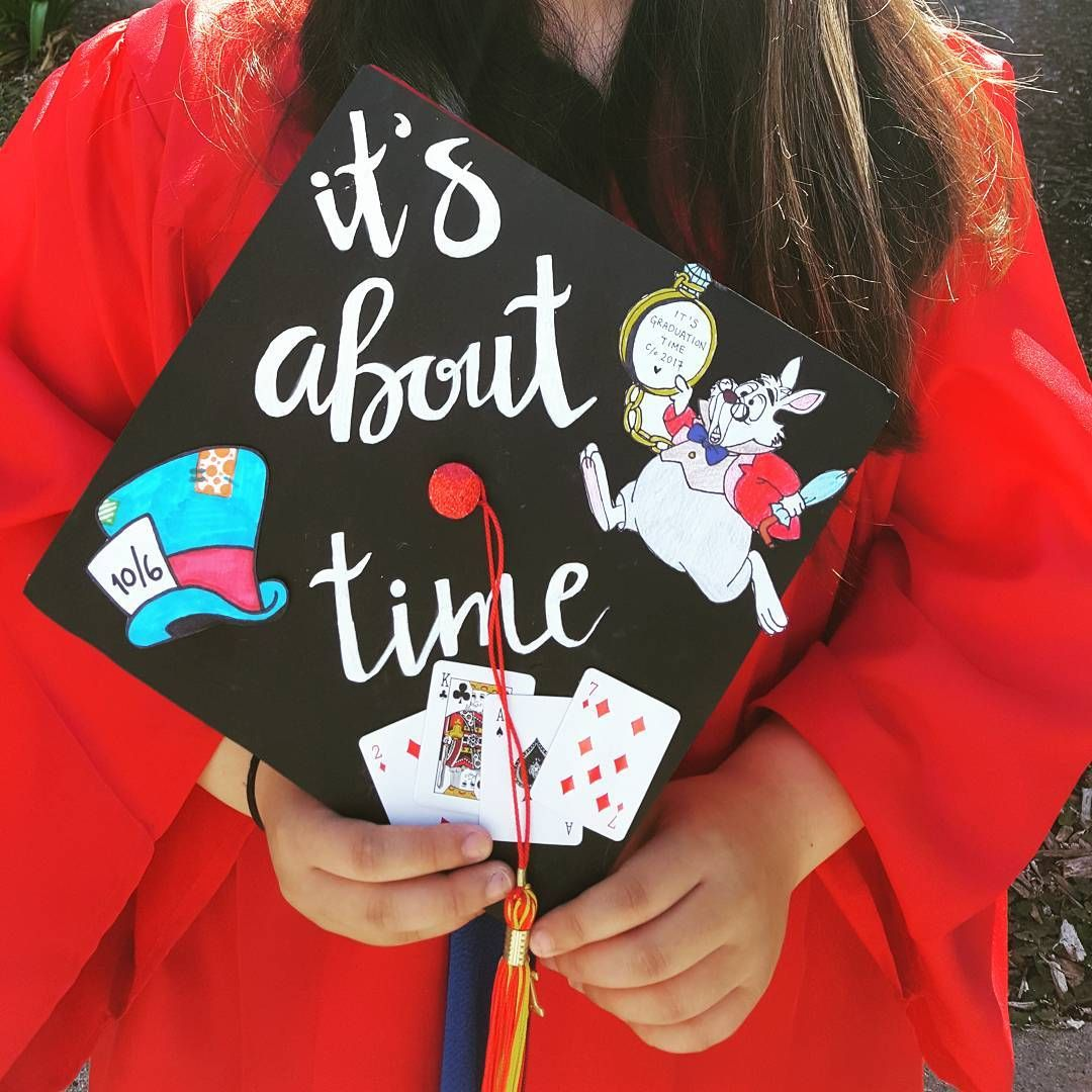 Alice In Wonderland Grad Cap Design Follow Us Motivation2