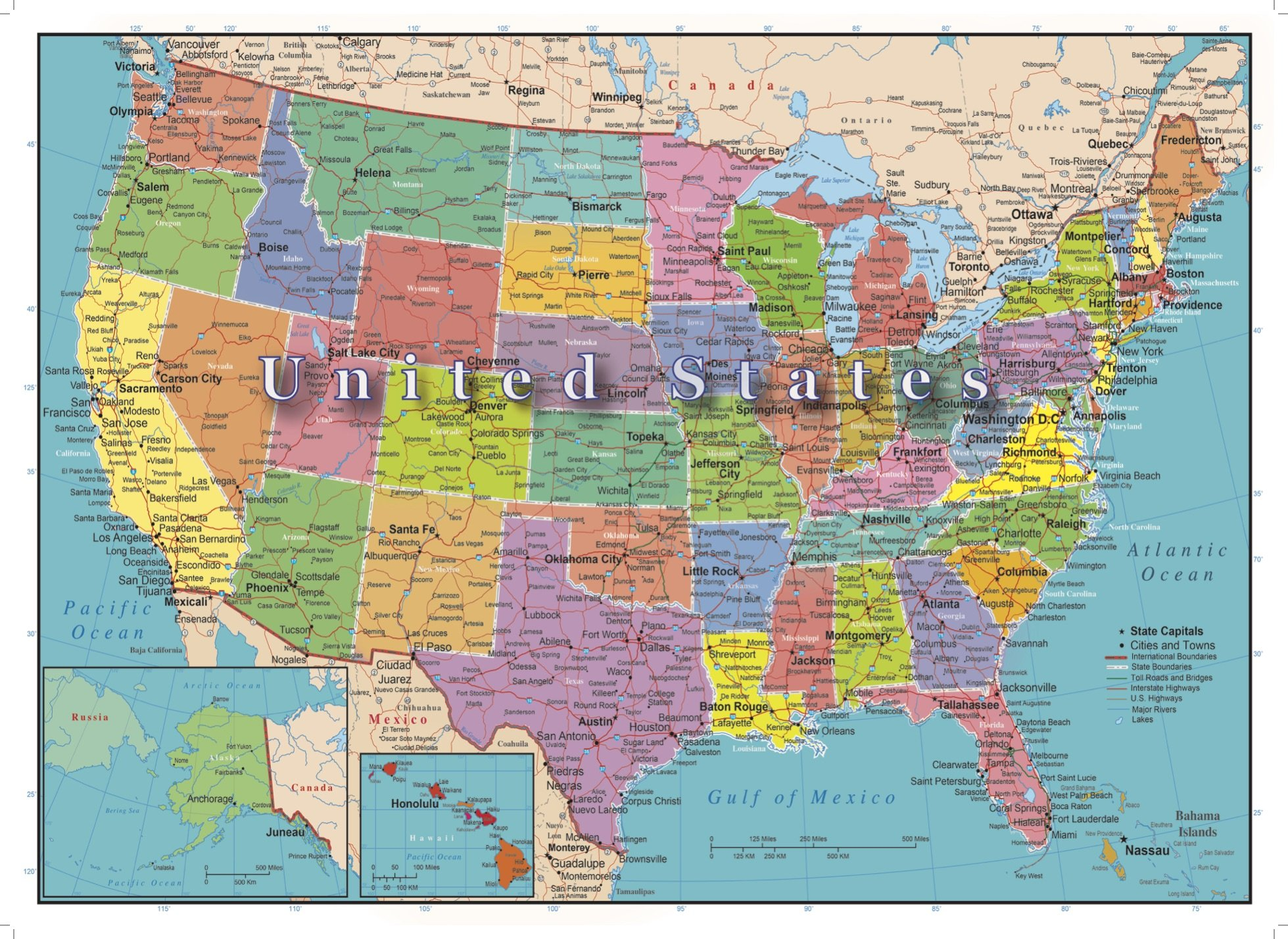 U.S.A. Map Puzzle 300 Piece | Map puzzle, Map, United states map