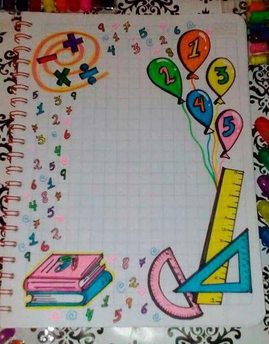 57 Caratulas Para Cuadernos De Matematicas Faciles De Dibujar Foros Ecuador Doodle Art Fun Crafts Crafts