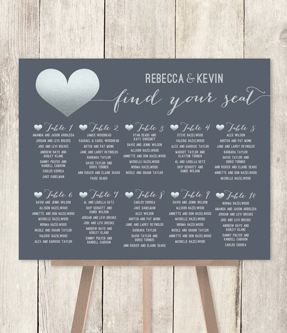 10 OFF with coupon code PIN10 ~ Modern Wedding Seating Chart DIY - wedding charts