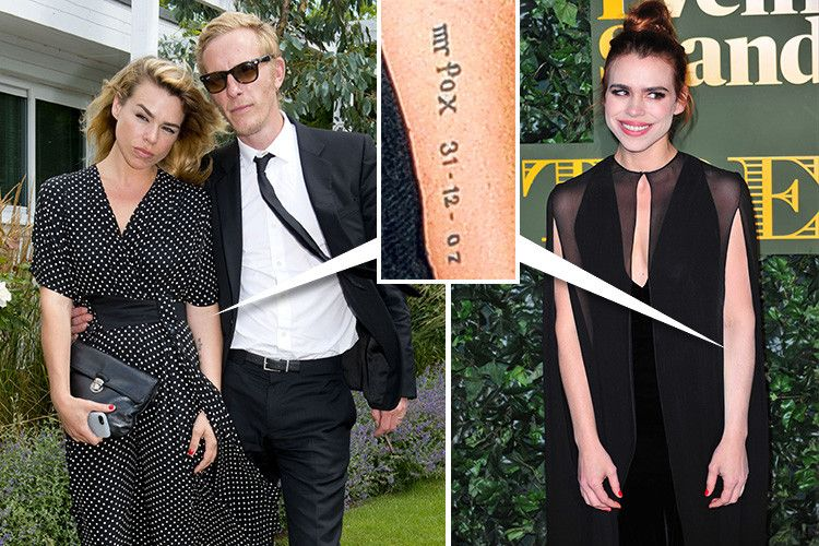 Billie Piper's tat tribute to Laurence Fox fully removed