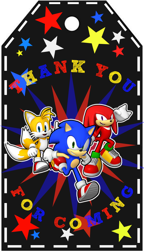 Sonic The Hedgehog Free Printable I Made Enjoy Sonic Birthday Parties Sonic Party Sonic Birthday