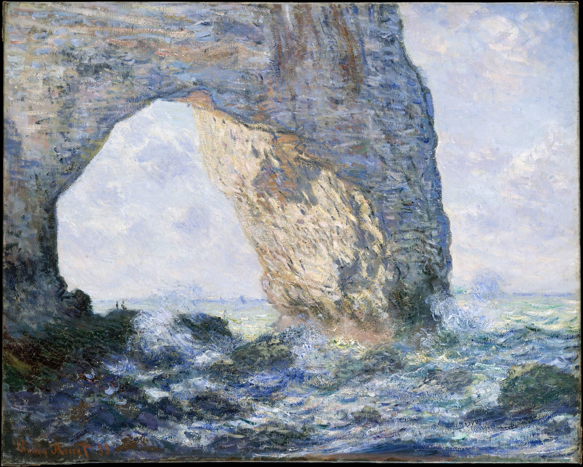 Claude Monet; The Manneporte (Etretat); 1883