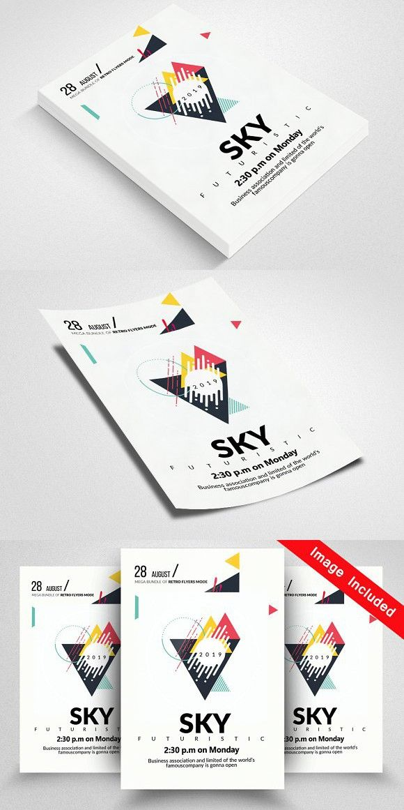 Futuristic Party Flyer Template #abstract | Electro Flyer ...