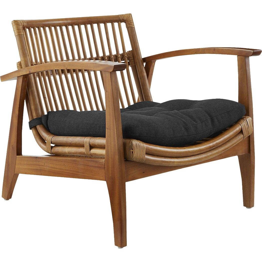 Delicieux Shop Noelie Rattan Lounge Chair With Cushion. Mahogany And Rattan Statement Lounge  Chair Brings Alfresco Vibes Indoors. Warm Mahogany Frames A Strong ...