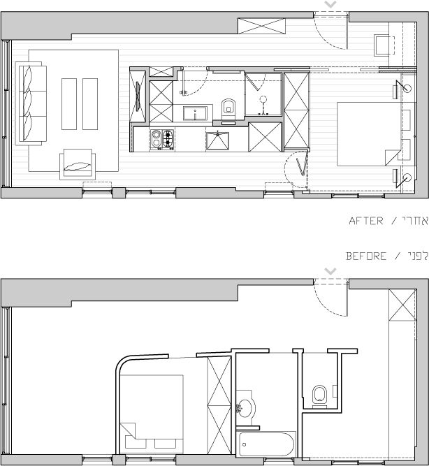 plan d un appartement de 40m2 refait par un architecte