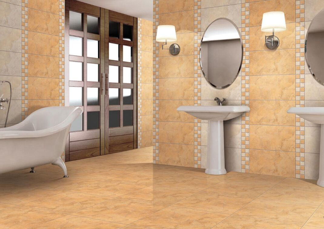 Wholesale Large Beige Matte Bathroom Tiles with Cheap Price from