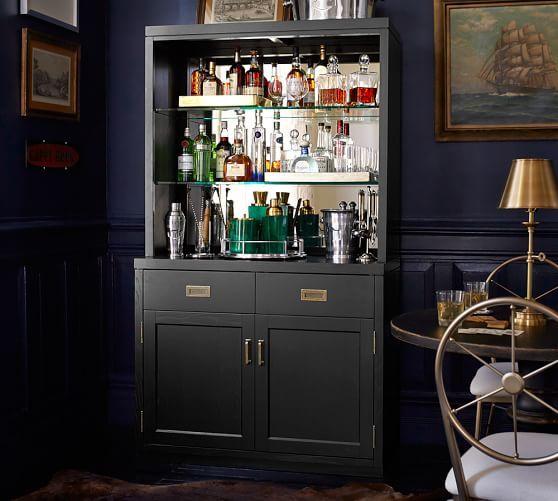 Ken Fulk Mirrored Bar Cabinet Ken Fulk X Pottery Barn