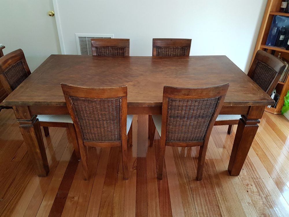 Pine Dining Table with 6 Chairs  eBay. Oh yes, these would work perfectly