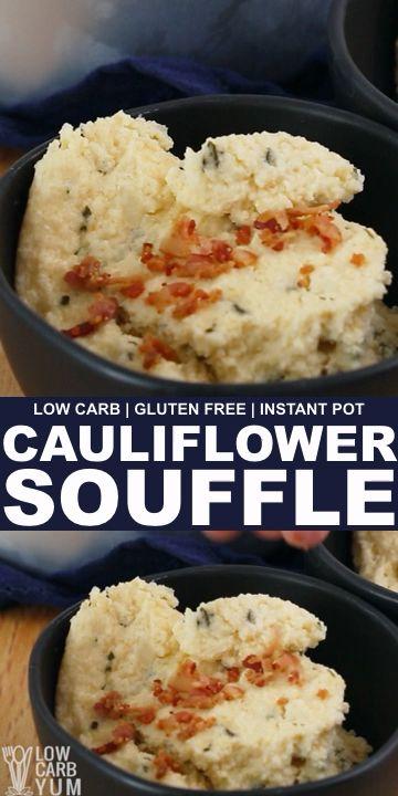 Photo of Pressure Cooker Cauliflower Soufflé (Instant Pot, Low Carb)
