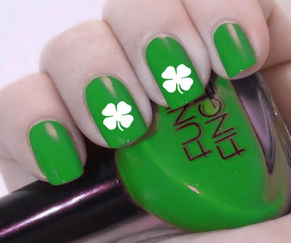 Best 50+ Four Leaf Clover Nail Design