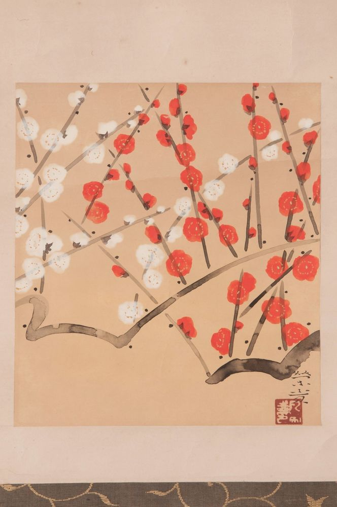Check out Japanese hanging scroll Plum painting Antique wall art hs0699  http://www.ebay.com/itm/Japanese-hanging-scroll-Plum-painting-Antique-wall-art-hs0699-/112026318354?roken=cUgayN&soutkn=JXG45q via eBay