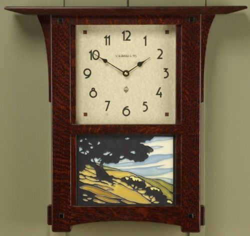 Arts Amp Crafts Wall Clock Made By Schlabaugh Amp Sons With